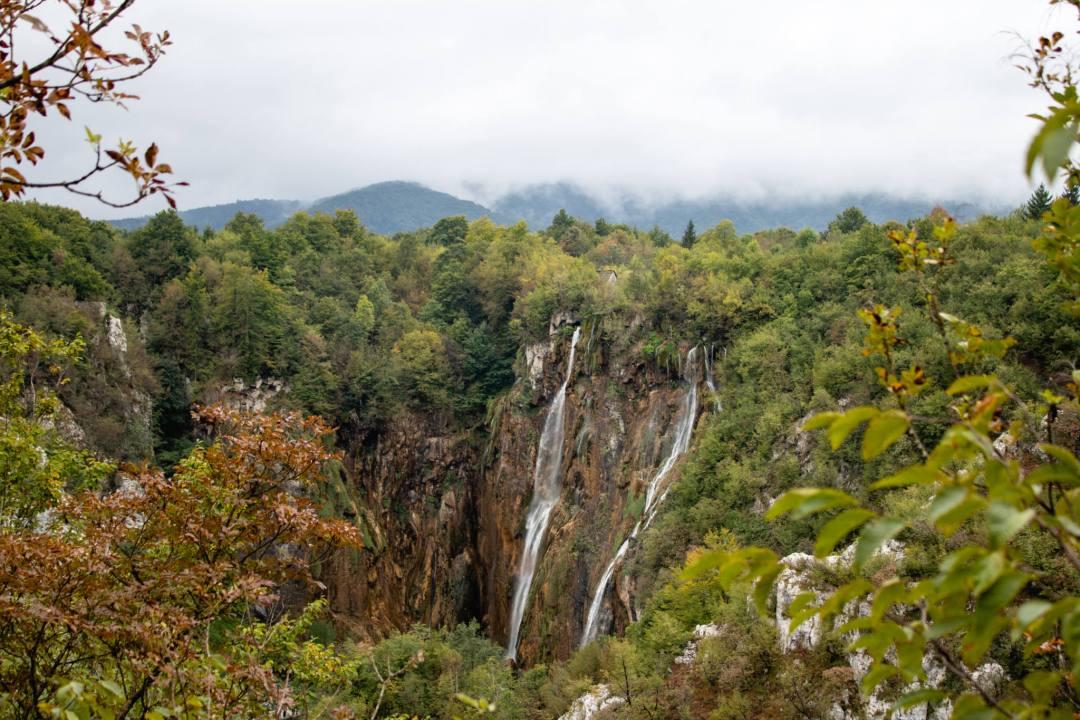 waterfalls at plitvice lakes national park