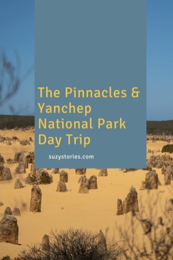 title text overlay photo of the pinnacles WA