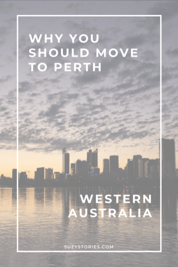 perth skyline at sunset with title text overlay
