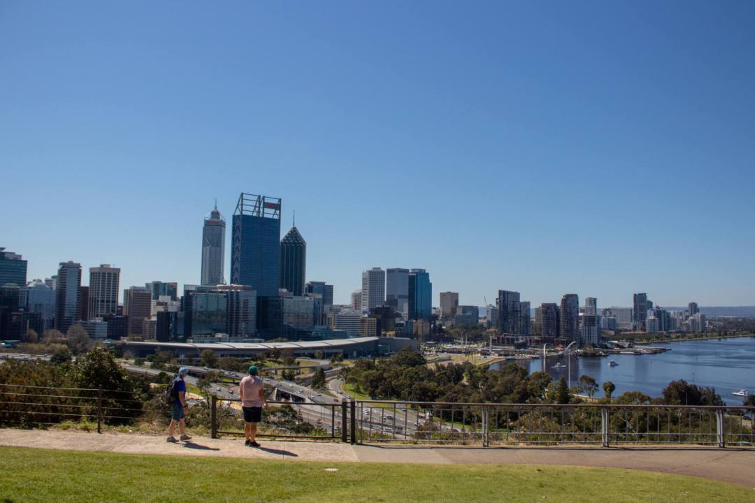 view of perth cbd from kings park