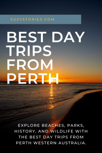 sunset in yanchep over ocean with title text overlay