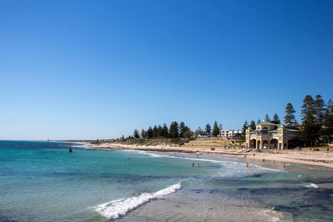 view over cottesloe beach and indiana tearooms