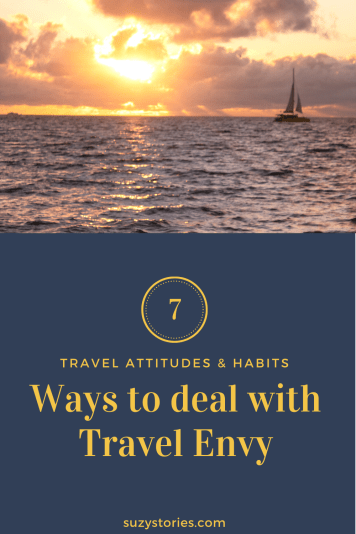 A sailboat on the horizon over the sea at sunset with title text overlaid