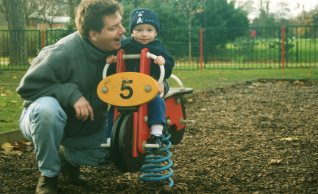 The Big T and our boy-child: Bedford, England. Photo: Su Leslie 1999