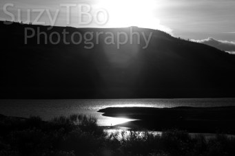 Black & White Sunest on Blue Mesa Lake