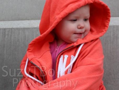 Baby Portrait Orange Hoodie Sweatshirt
