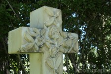 Cedar Cemetery Headstone Cross