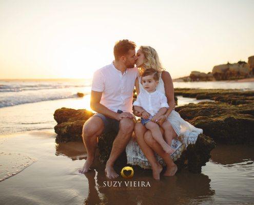 Sessão na Praia com a Família