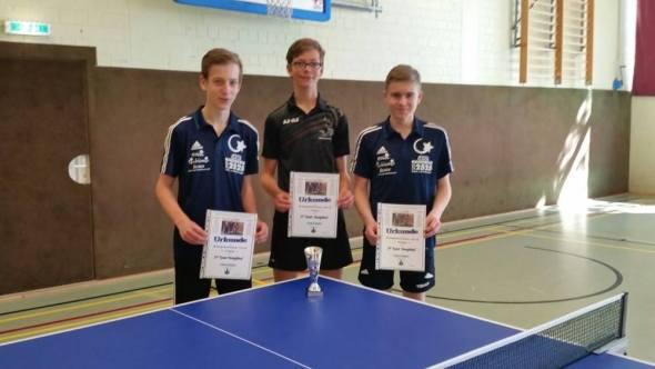 Lukas Wulff, Nils Ole Köhler, Jan-Luca Neumann (von Links)