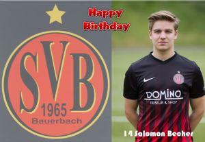 Salomon Becher @Happy Birhday @ Waldstadion Bauerbach