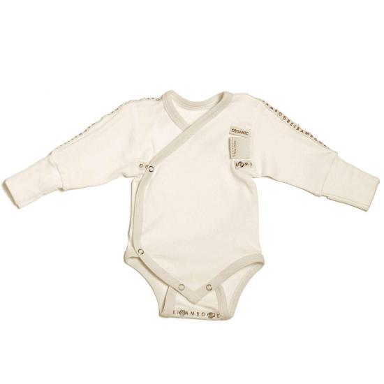 Beibamboo Baby Grow (wraparound) White