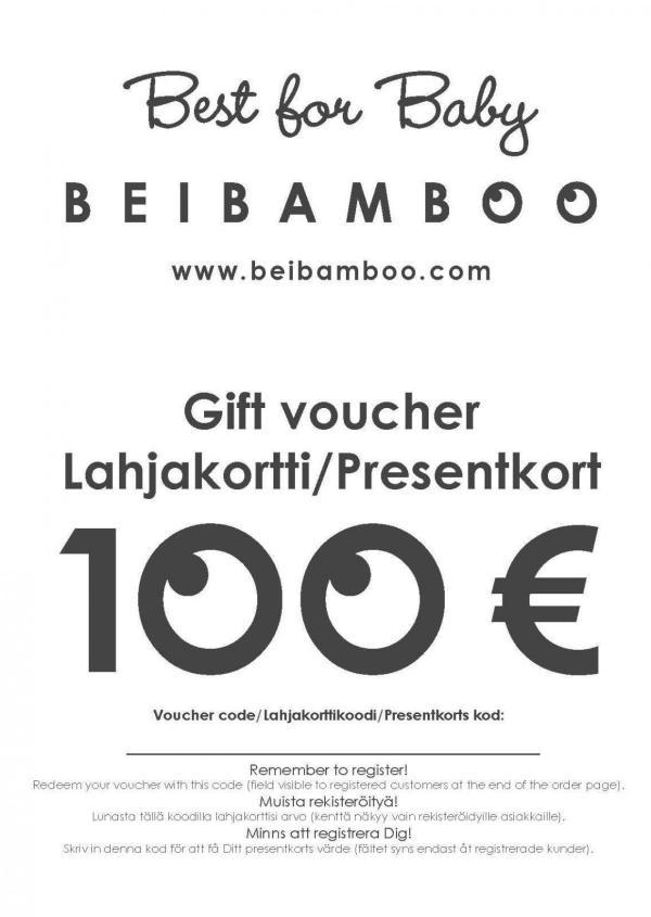 Beibamboo 100 € Gift Voucher