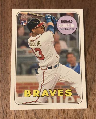 2018 topps heritage high number action ronald acuna jr