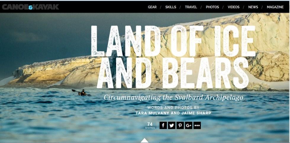 Svalbard Canoe Kayak Online Photo Essay 1