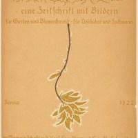 Magazine Covers -- 1920-1929 (Part 2: Garten Schönheit)
