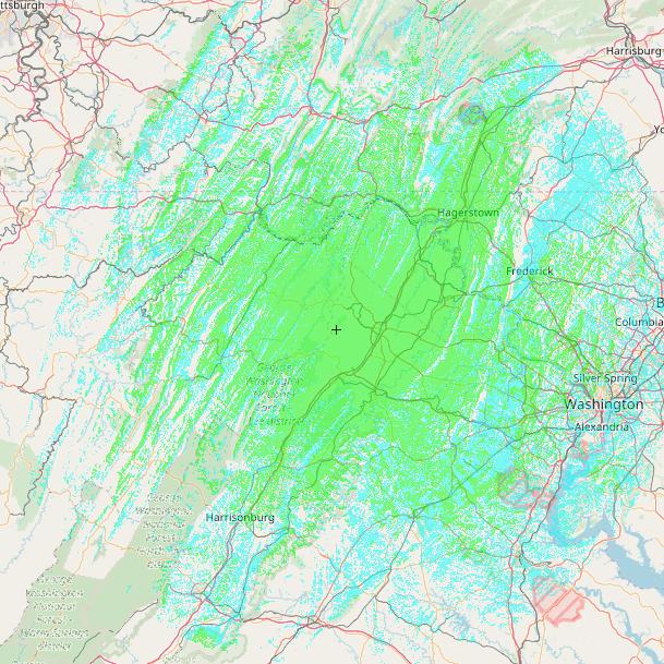 SVARC Repeater Coverage Map