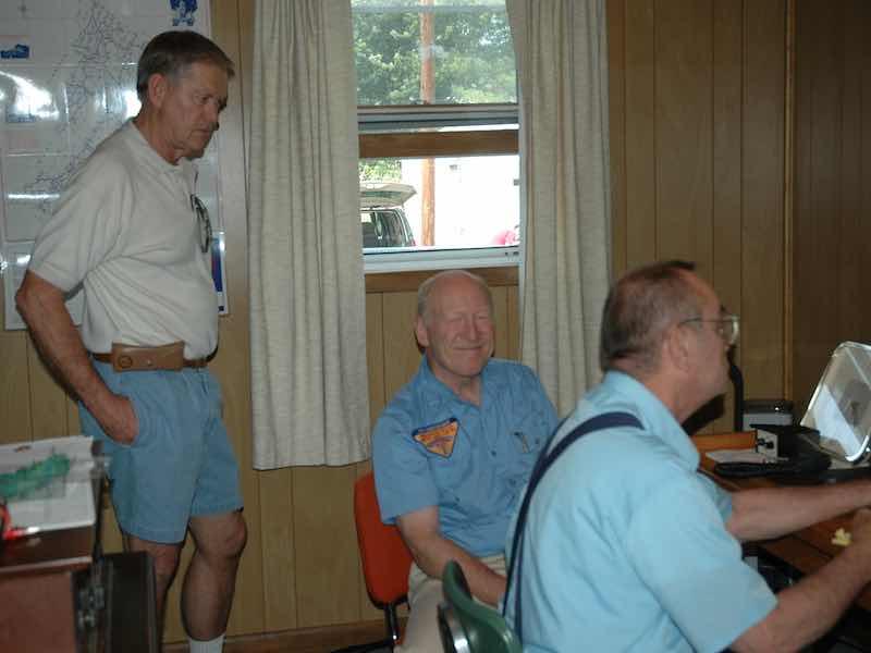 Sam Long, Tom Brownlee, Godfrey Miller N8GM
