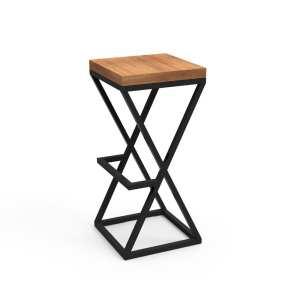 Купить, заказать барные стулья на металлокаркасе из дерева в стиле ЛОФТ Сварка Люкс Екатеринбурге