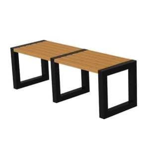 скамейка деревянная на металлокаркасе Сварка Люкс