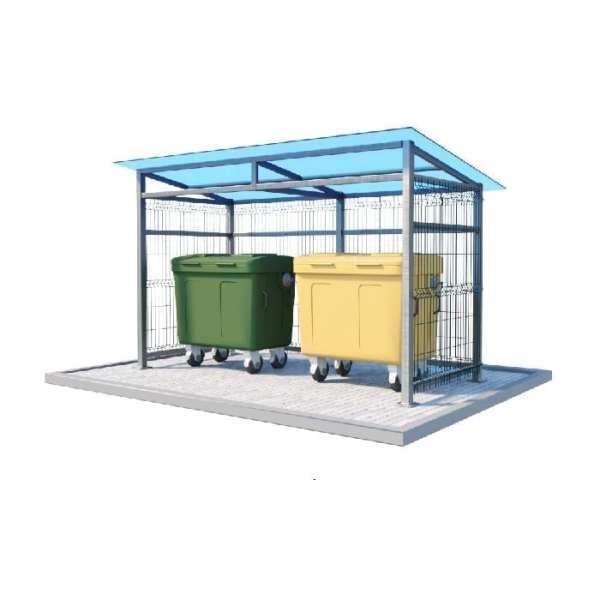 контейнерная площадка для трех мусорных баков Сварка Люкс