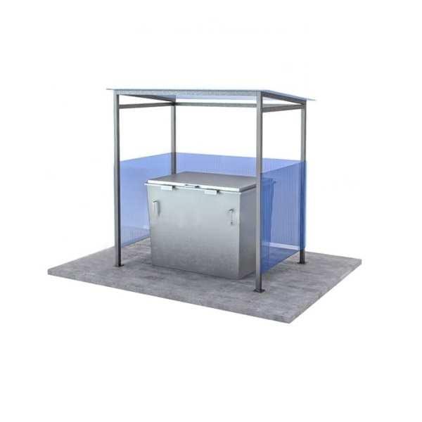 контейнерная площадка для одного мусорного бака Сварка Люкс
