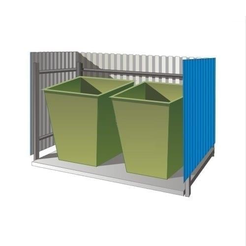 контейнерная площадка для мусора Сварка Люкс