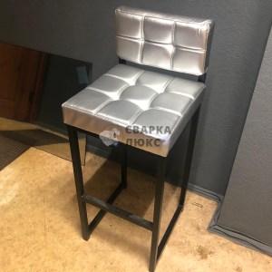Барный стул Лофт Серебряный Металлик Сварка Люкс
