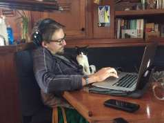 lil' dude helping dad edit
