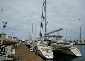 Arriving at San Diego Yacht Club