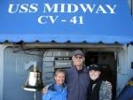 Skye, Cindy & Scott Visit USS Midway Museum