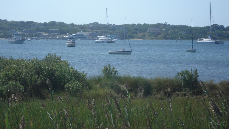 A view back to Blue Sky from Block Island