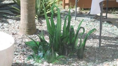 "Some ""greenery"" by GreenVI glass studio (courtesy of www.fraserrustics.com)"