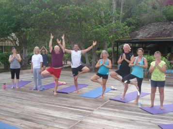 Yoga feels good after 10 days at sea