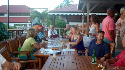 Salty Dawgs having a get together at the Crawl Pub at BEYC
