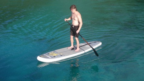 Enjoying the view and exercise on an SUP