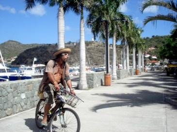 Along the palm lined peninsula of Gustavia