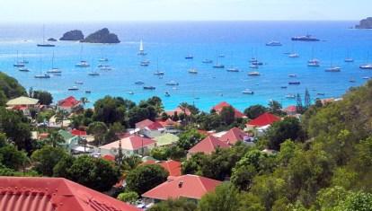 Where's Waldo? Uh, Blue Sky? In Gustavia harbor