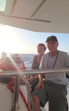 Elisabeth and Dennis sharing a morning watch. Love that sunup!
