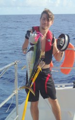 Yellowfin!! Hoo Rah! Sushi, steaks, on the way! Rounds out a Wahoo, Mahi Mahi, Tuna trio.