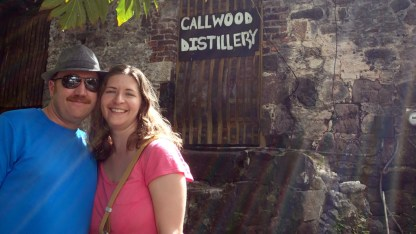 Keith and Taryl at Callwood rum distillery - must stop