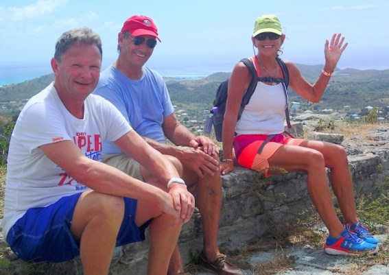 Judy and Phil of Rum Runner with David taking a hike break