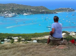 Phil from Rum Runner enjoying the view after a tough hike
