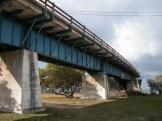 vintage bridge on Pigeon Key