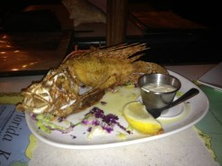 Fried Lionfish on the table at Encore
