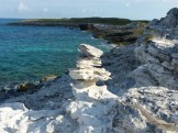 natural coral cairn, Great Guana Cay