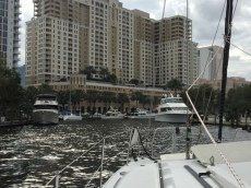 on the New River, downtown Ft Lauderdale
