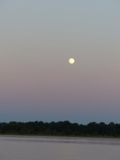 full moon rising, Pax River NAS