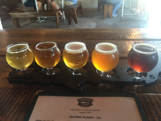 LS_20160819_161541 tasting flight, Greenport Harbor Brewing Co, Peconic