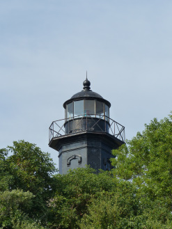 Old Field Point Light, from the beach below