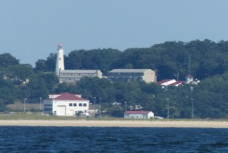 Eaton Neck Light and Coast Guard Station, view from LI Sound